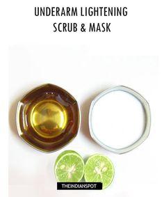 ∆ Body Treatments...DIY UNDERARM LIGHTENING SCRUB & MASK RECIPE...Cucumber- juice- 1 tablespoons; Lemon juice- 1 tablespoons; Baking soda- 1/2 tablespoon; Olive oil- 1 teaspoon