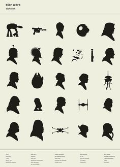 Teach Your Kids: The Alphabet Of Star Wars Silhouettes