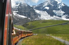 take the train to the Alps
