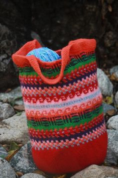 The Katie Fair Isle Tote from Annie Bee Knitting on Etsy