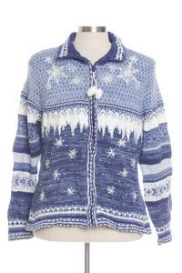 Blue Ugly Christmas Cardigan 29095