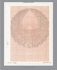 fingerprint of words, central opening...Agnes Denes