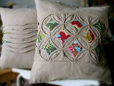 ellaminnowpeas:  houseonhillroad:  supafab:  Phew - cushion covers finished! (via soja)
