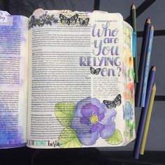 2 Chronicles 16 / devlinwhite Bible 2, Scripture Art, Bible Quotes, Bible Verses, Bible Journal, Art Journal Pages, Art Journaling, Christian Crafts, Christian Devotions