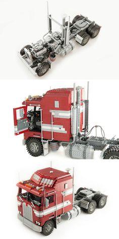 I love this ! Kenworth K100C VIT Aerodyne. Lovely custom mad lego truck I'm definatly going to build my self a lego model like this.