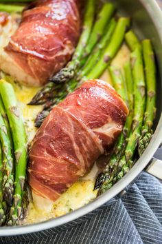 Strawberry Glazed Prosciutto Wrapped Stuffed Chicken and Asparagus | Get Inspired Everyday!