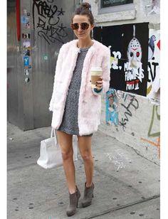 os Achados | Moda | Rosa blush + cinza