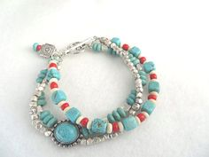 Hey, I found this really awesome Etsy listing at https://www.etsy.com/listing/217838153/southwestern-bracelet-triple-strand