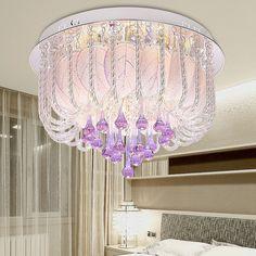 Acolhedor moderna lâmpada quarto sala lâmpada de cristal roxo americano marca iluminação de poupança de energia LED