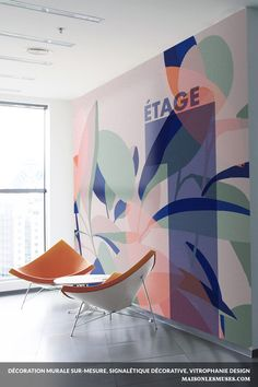 Environmental Graphic Design, Environmental Graphics, Glass Film Design, Office Paint, Art Mural, Decoration, Wall Design, Design Projects, Graphic Wall