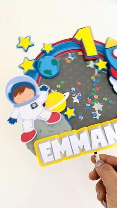 Birthday Cookies, Diy Birthday, 1st Birthday Parties, Birthday Gifts, Foam Crafts, Paper Crafts, Diy Rocket, Ideas Para Fiestas, Games For Kids