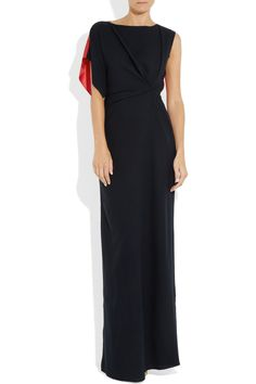Roksanda Ilincic | Misora gathered wool-crepe and silk gown | NET-A-PORTER.COM ★ Prom