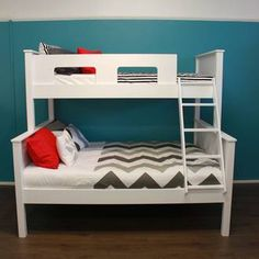 The Urban Trio Bunk beds are a ideal for holiday homes or rooms with limited for floor space. Urban Furniture, Kids Furniture, Luxury Furniture, Furniture Stores, Trio Bunk Beds, Kids Bunk Beds, Furniture Cleaner, Kids Bedroom, Room Decor