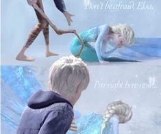 """Elsa: """"Jack?"""" *Elsa hugs Jack* Jack: """"Like I said, I'm right here."""""""