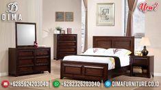 New Model Kamar Set Minimalis Jati Natural Salak Brown Kayu Perhutani MMJ-0881