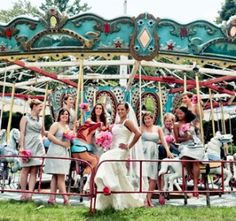 Carousel at wedding reception
