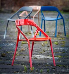 Coalesse LessThanFive carbon fiber Chair by Coalesse Design Studio and Michael Young.
