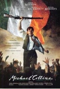 "This is an original double-sided ""Michael Collins"" movie poster. It is a first print of ""Michael Collins"" holding a rifle in air in front of the Irish flag. It was later recalled in favor of a more peaceful version. It sold on eBay for $20 in 2011. Check out this awesome WorthPoint article!"