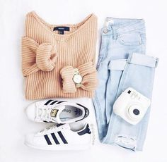 Mode, Adidas und Outfit-Image - To Wear - Modetrends Cute Outfits For School, Cute Casual Outfits, Outfits For Teens, Summer Outfits, Winter School Outfits, Back To School Outfits Highschool, Teen Fall Outfits, Winter Outfits Tumblr, Cute Outfits With Jeans