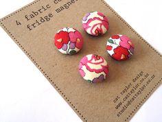 handmade fabric fridge magnets