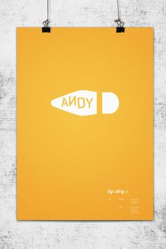 Another minimalist poster from Pixar, from one of their most popular films. Again, only two colors but still wildly effective because the image is so recognizable. It even has an emotional quality to it because in the last movie, Woody finds a new home and gets a new owner but we will always associate him as Andy's favorite toy.,  Go To www.likegossip.com to get more Gossip News!