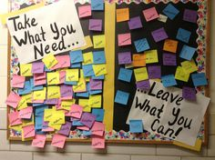 """Take what you need...Leave what you can!"" passive event, Quad October 2013"