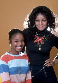 "twixnmix: ""Janet Jackson and LaToya Jackson photographed by George Rodriguez, "" Jackson Music, Jackson Family, Janet Jackson, Michael Jackson, Black Celebrities, Celebs, Vintage Black Glamour, The Jacksons, Black Star"