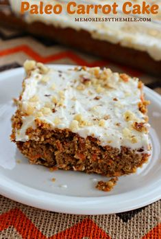 This Paleo Carrot Cake is so easy to make and all the ingredients can be found at Walmart. Trust me when I say it's delicious, moist, and healthy too!