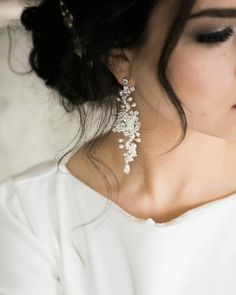 Delphinium Earrings White with Ivory Accents Edera Couture Lace Bridal Jewelry Accessories Wedding Jewelry And Accessories, Jewelry Ideas, Hair Accessories, Bride Earrings, Wedding Earrings Drop, Drop Earrings, Lace Earrings, Vintage Wedding Earrings, Diamond Earrings