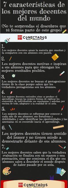 Docente - 7 Características de Calidad | #Infografía #educación