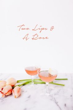 valentine's day cocktail with rose water, chambord and champagne // coco kelley
