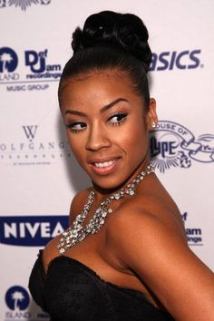 keyshia cole's high bun