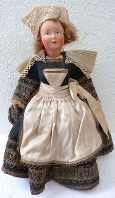 Poupée Costume Folklorique Bretagne Celluloïd | Petitcollin