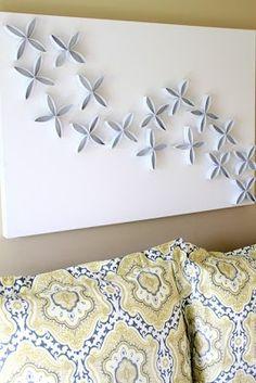 Ideas Brillantes Para El Hogar: Decoracion Mural con Conos de Papel Higienico