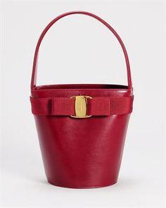 Salvatore Ferragamo Vara Bow Bucket Bag, 7/10 Condition