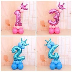 32 Inch Number Foil Balloons Digit Helium Ballons Birthday Party Decor For Child & Garden Rocket Birthday Parties, Birthday Diy, Birthday Balloon Decorations, Birthday Balloons, Birthday Girl Pictures, Balloon Decorations Party, Foil Balloons, Confetti Balloons, Garden
