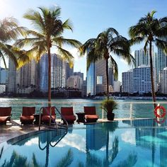 Wishing we were lounging by the pool at the Mandarin Oriental Miami like Instagram's misssmartflyer.
