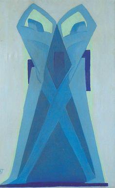 Janos Mattis-Teutsch (1884 - 1960), Composition, 1927