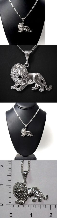 Necklaces and Pendants 98481: 2 Long Genuine Solid 925 Sterling Silver Lion King Boss Mens Pendant -> BUY IT NOW ONLY: $44 on eBay!
