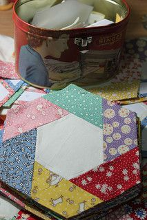 Hexagon quilt revisited   by Buttontree Lane