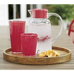 Pop Red Acrylic 15 oz. Drink Glass  | Crate and Barrel