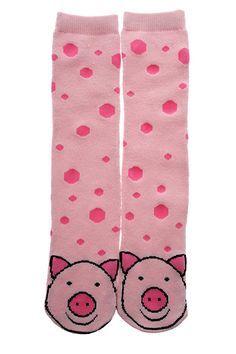 Pink Pig Socks. Keep all your little piggies toasty this winter.
