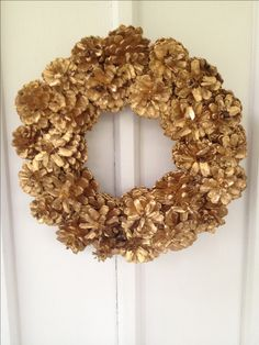 Frugal Do it Yourself Pine cone Wreath! includes instructions and details on how to create.