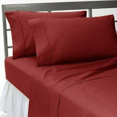 300 TC Brand New 100% Egyptian cotton 2 piece Gorgeous Pillow covers 300 THREAD COUNT Queen Burgundy solid by pearlbedding. $37.99. This is 2PILLOWCASES only. Excellent value for money.. Brand New and Factory Sealed. No Ironing Necessary. THREAD COUNT/MATERIAL: 300TC , 100% Egyptian Cotton. Enjoy comfort and durability.. Extra Comfortable and most Contemporary Pillowcases.. Experience true luxury when you sleep on these Eqyptian cotton Pillowcases.. Super Soft Pill...