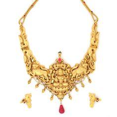 Traditional South Indian Nagas Mahalakshmi Necklace set