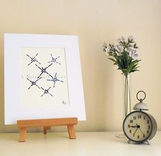 Crossings - Original Abstract Ink Painting - NOT A PRINT