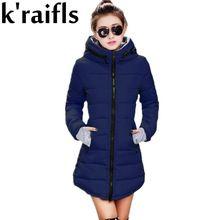 d5c28783ac48 k raifls Womens Winter Jackets Navy and Black New Long Down Cotton Parka  Female Jacket Coat Plus Size Slim Casual Outwear 2017