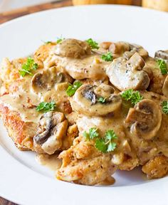 Easy Chicken Marsala - This delicious chicken recipe is both easy and elegant. Fresh mushrooms are sautéed in butter and garlic then tossed in cream that's flavored with Marsala. Your family will think you slaved over a hot stove for hours! Try this quick and easy dinner.