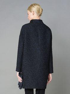 Пальто женское цвет темно-синий, пальтовая ткань, артикул 1015190p10068