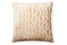Feeling like this embroidered gold pillow is a must-have!